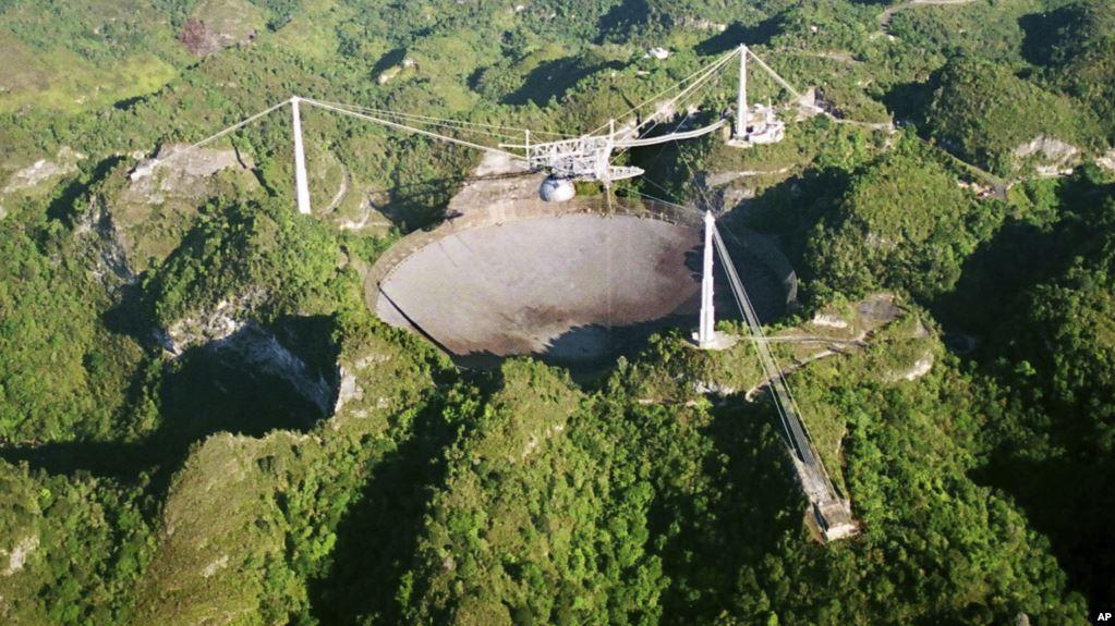 痴翱础慢速英语:波多黎各超大望远镜坍塌